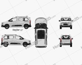 Citroen Berlingo with HQ interior 2018 clipart