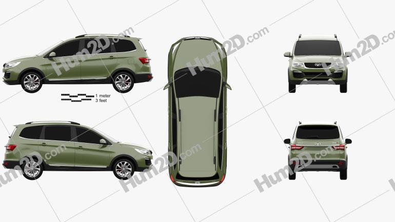 Cowin V3 SUV 2017 car clipart