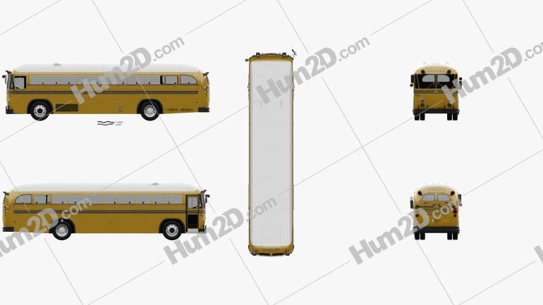Crown Supercoach Bus 1977 clipart
