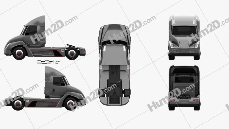 Cummins AEOS electric Tractor Truck 2018