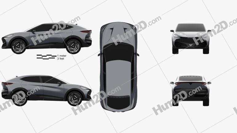 Cupra Tavascan 2019 car clipart