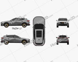 Cupra Formentor 2021 car clipart