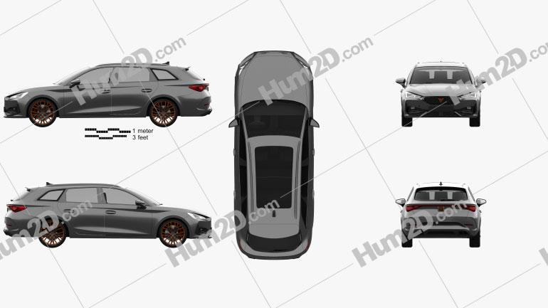 Cupra Leon sportstourer 2020 car clipart