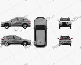 Cupra Ateca 2020 car clipart