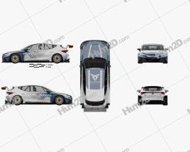 Cupra Leon e-Racer 2021 car clipart