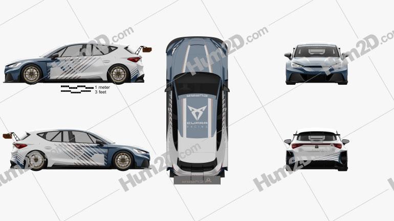 Cupra Leon e-Racer 2021 Clipart Image