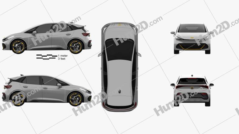 Cupra Born 2022 car clipart