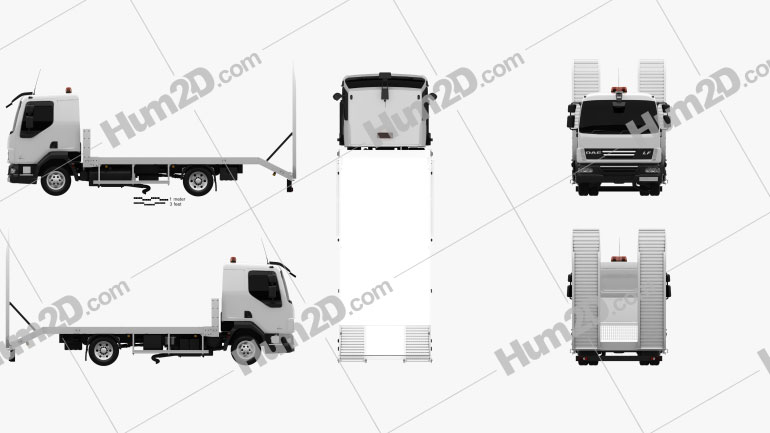 DAF LF Car Transporter 2011 clipart