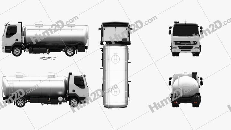 DAF LF Tanker 2011 clipart
