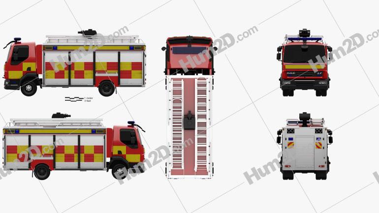 DAF LF Fire Truck 2011 clipart