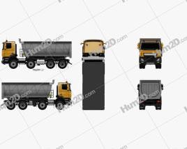 DAF CF Tipper Truck 2013 clipart