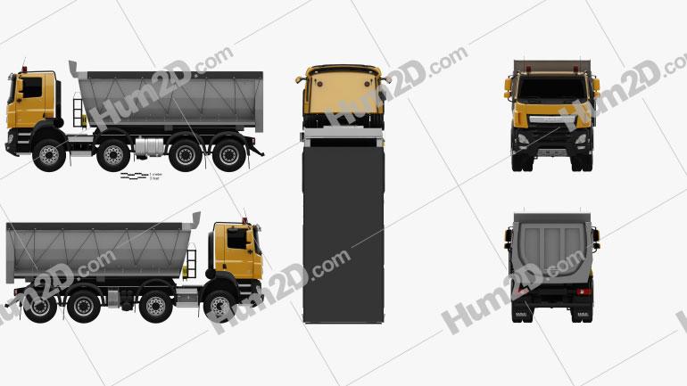 DAF CF Tipper Truck 2013 Clipart Image