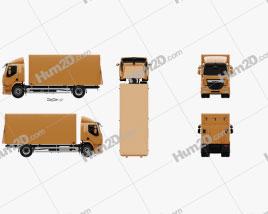 DAF LF Box Truck 2013 clipart