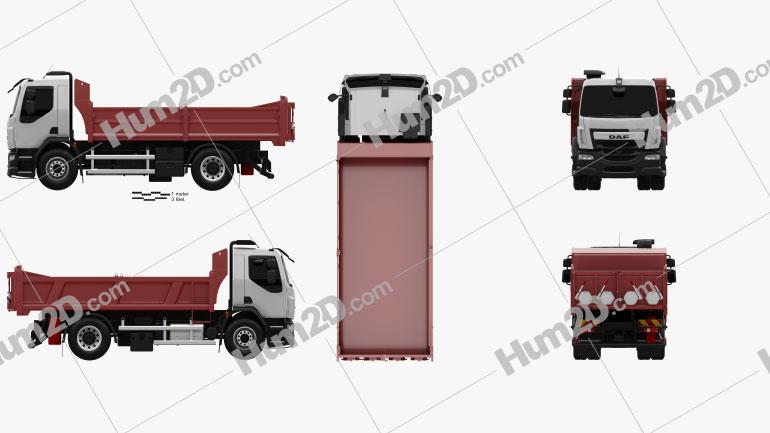 DAF LF Tipper Truck 2013 clipart
