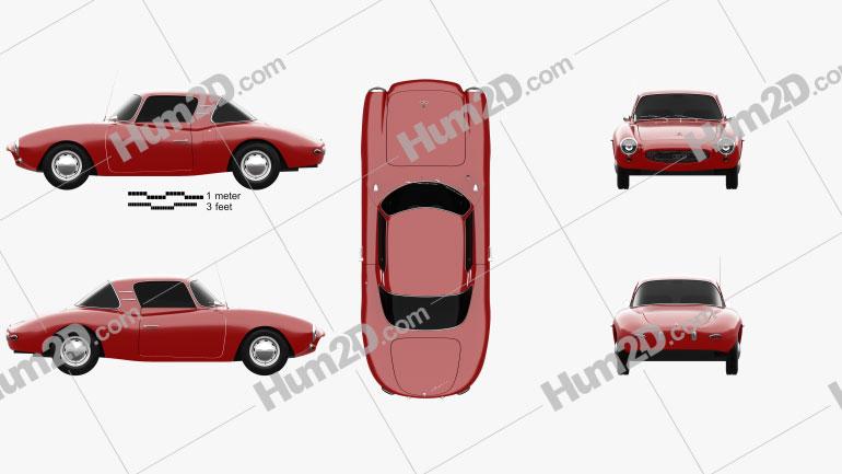 DKW 3=6 Monza 1956 car clipart