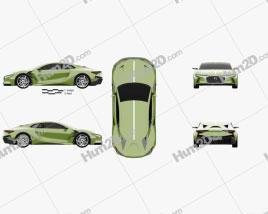 DS E-Tense 2016 car clipart