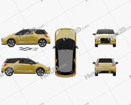 DS3 Chic Сabriolet 2016 car clipart
