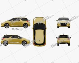 DS3 Chic Schrägheck 2016 car clipart
