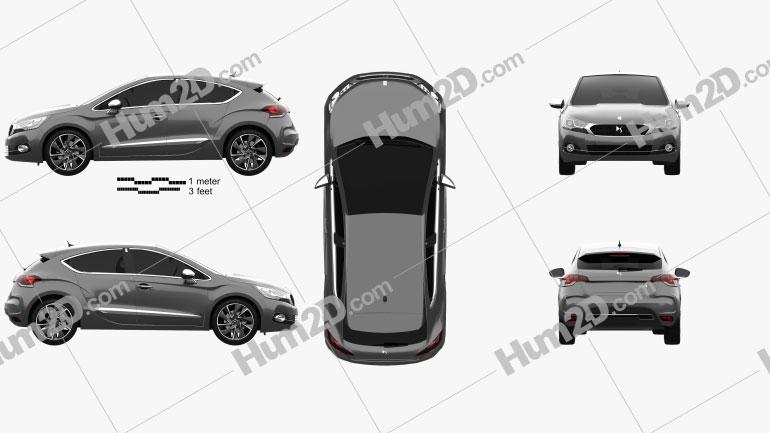 DS 4 2015 car clipart