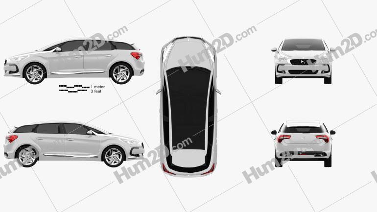 DS 5 2015 car clipart