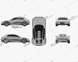 DS Divine Concept 2014 car clipart