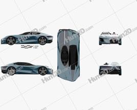 DS X E-Tense 2018 car clipart