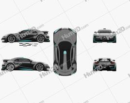 DS Survolt 2011 car clipart