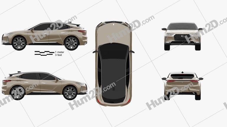 DS 4 E-Tense 2021 car clipart