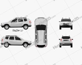 Dacia Duster 2011 car clipart