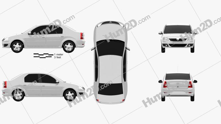 Dacia Logan 2010 car clipart
