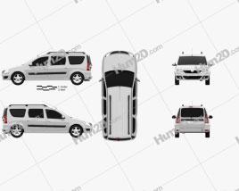 Dacia Logan MCV 2011 car clipart