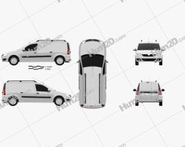 Dacia Logan Van 2011 clipart