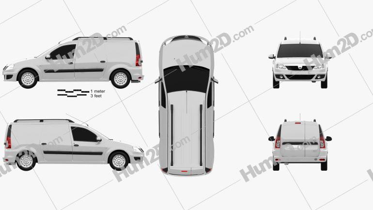 Dacia Logan Van 2011 Clipart Image