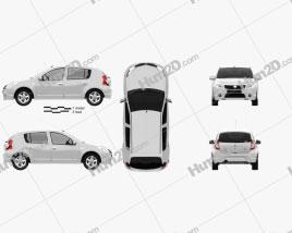 Dacia Sandero 2011 car clipart