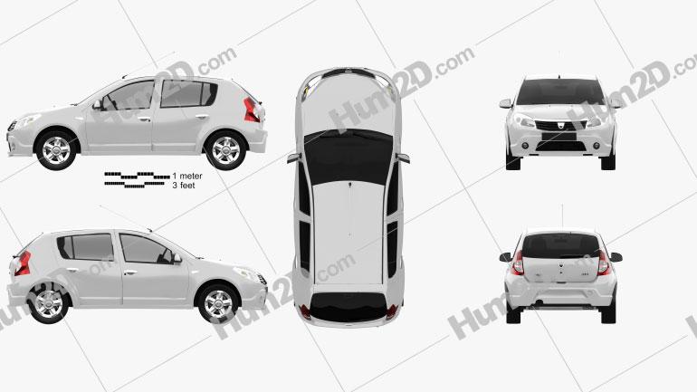 Dacia Sandero 2011 Clipart Image