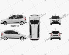 Dacia Lodgy 2012 Clipart