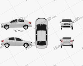 Dacia Logan sedan 2013 car clipart