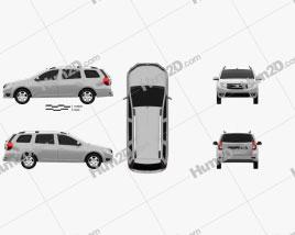 Dacia Logan MCV 2013 Clipart