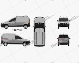 Dacia Dokker Van 2012 Clipart
