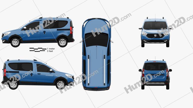 Dacia Dokker Stepway 2014 clipart