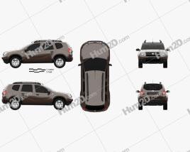 Dacia Duster 2015 car clipart