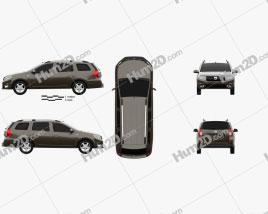Dacia Logan MCV 2016 car clipart