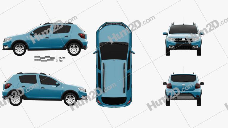 Dacia Sandero Stepway 2017 car clipart