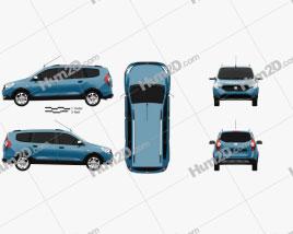 Dacia Lodgy Stepway 2014 clipart