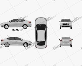 Dacia Logan 2021 car clipart