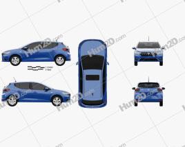 Dacia Sandero 2021 Clipart