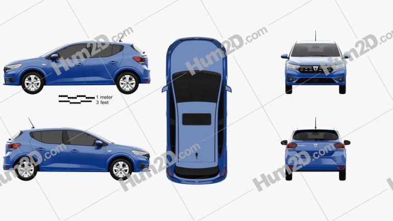 Dacia Sandero 2021 car clipart