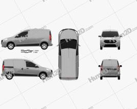 Dacia Dokker Van 2016 clipart