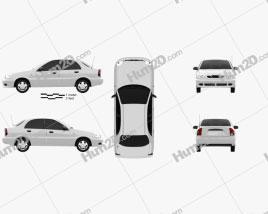 Daewoo Lanos 2012 car clipart