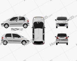 Daewoo Matiz M150 2011 car clipart